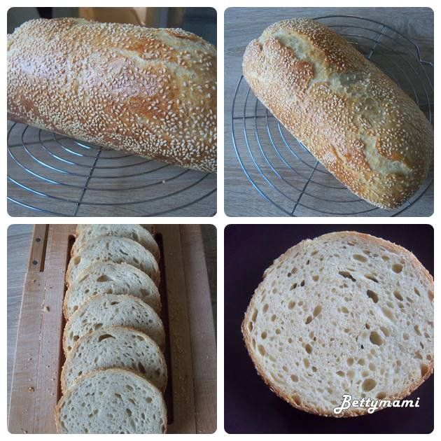 Rozskovászos tönkölyös kenyér búzacsírával   Betty hobbi konyhája