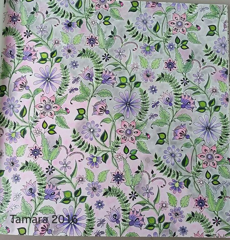 Secret Garden Johanna Basford Colored By Tamara Rexroad Adult ColoringColoring BooksColouringJohanna