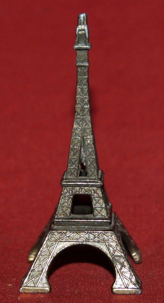 Small Mini Metal Eiffel Tower French Souvenir Statuette