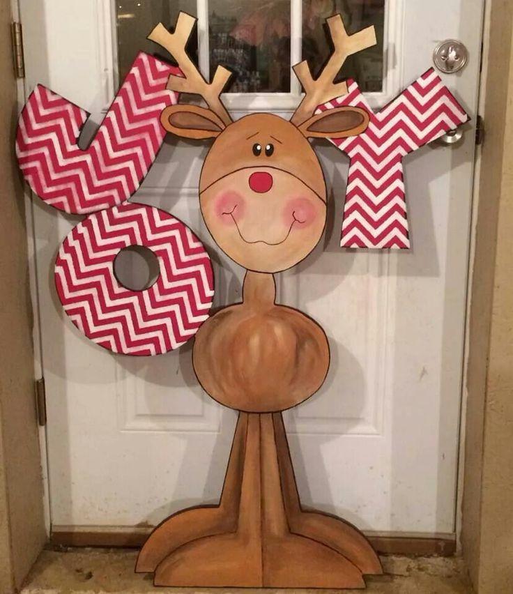 Cute wood craft reindeer More