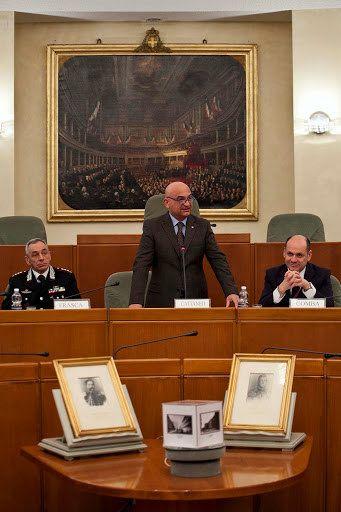 12/02/2014 celebrazione dei 150 anni della Caserma Cernaia. Interviene il presidente del Consiglio regionale Valerio Cattaneo.