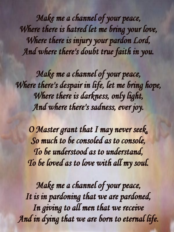 With God All things are possible: Prayer of Saint Francis