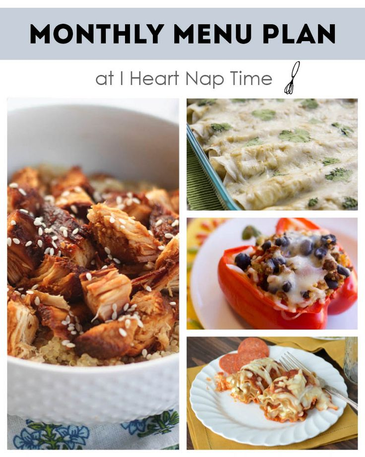 April monthly menu plan I Heart Nap Time | I Heart Nap Time - How to Crafts, Tutorials, DIY, Homemaker
