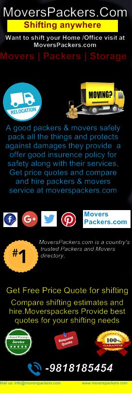 MoversPackers.com is a country's trusted Packers and Movers directory, we are shaping the future and helping people relocate their office or home in a convenient and cost effective manner.