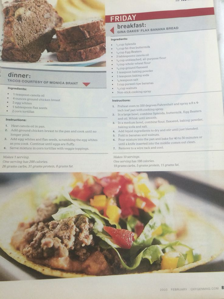 Flax banana bread / Monica Brants tacos