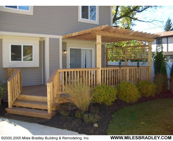 Deck Stairs Trellis Cover
