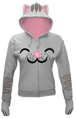 Gifts for Teen Girls: The Big Bang Theory Soft Kitty Juniors Hoodie @ Amazon