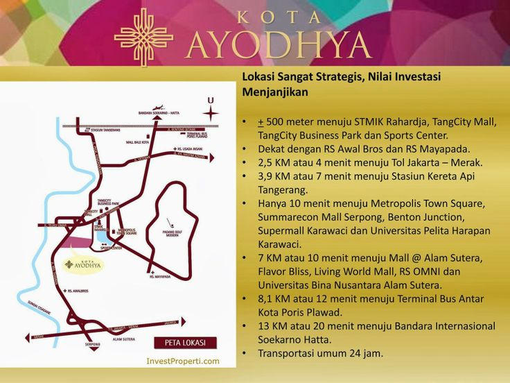 Peta Lokasi Kota Ayodhya Apartment Tangerang