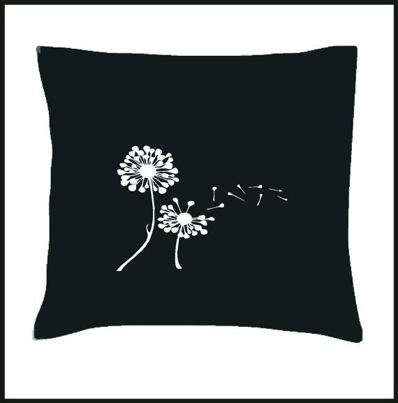Dandelions Scatter Cushion Cover by Pokkki on Etsy,