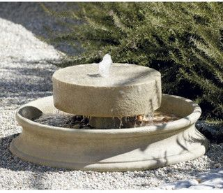 Millstone Fountain - traditional - outdoor fountains - by Ballard Designs  $149.99	  ❤