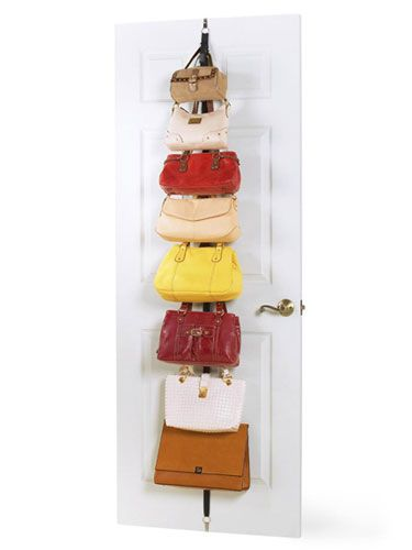 Organize Your Purses.  Clever!