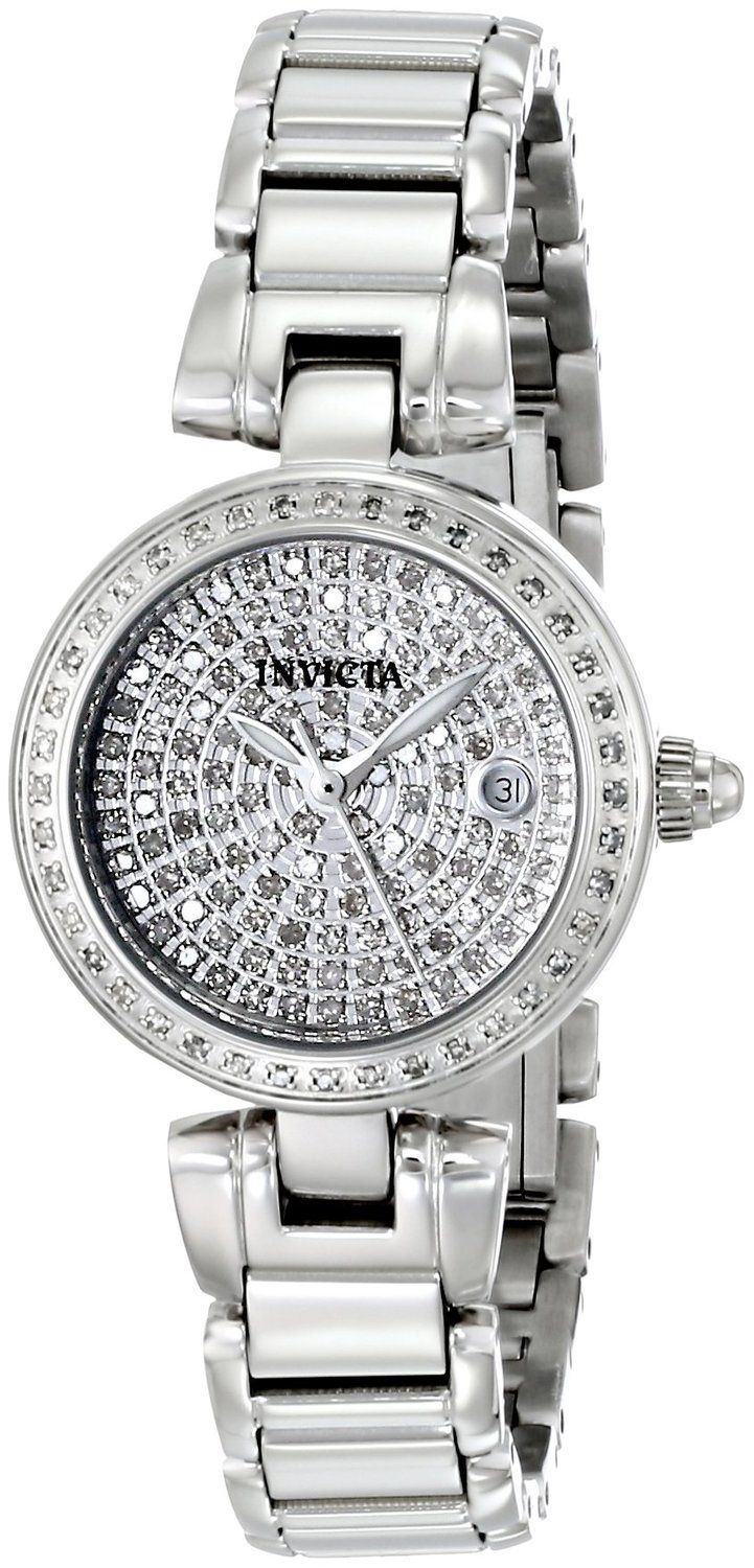 Invicta Women's 15873 Angel Analog Display Swiss Quartz Silver Watch.  Bringing you the best luxury watches online at the most affordable prices for premium brand name watches: http://www.bestwatches1st.com/#!invicta-angel-watch-collection/kb04e