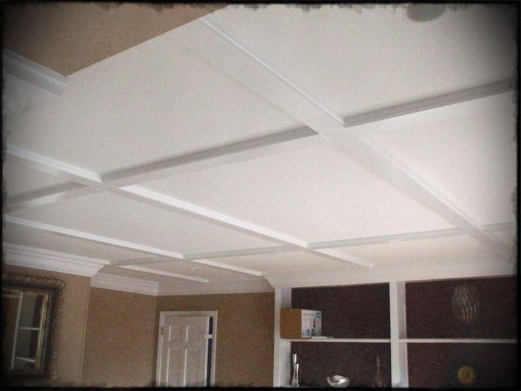 White drop ceiling tiles