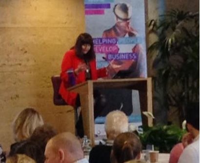 Hilary Devey speaks at Eden Unlocking Potential event