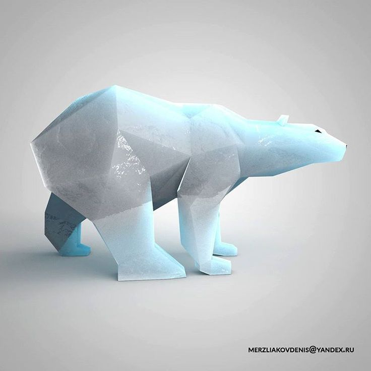 43 отметок «Нравится», 1 комментариев — мерзляков (@denismerzliakov) в Instagram: «#polar #polarbear #artobject #sculpture #lowpoly #lowpolyanimals #design #decoration #anatomy…»