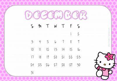 December calendar printable