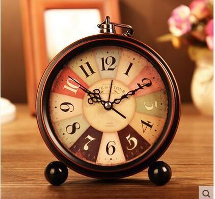 [Visit to Buy] 2016 Retro alarm clock Creative Pastoral Continental mute students lazy alarm clock simple alarm clock bedside lxq602 #Advertisement