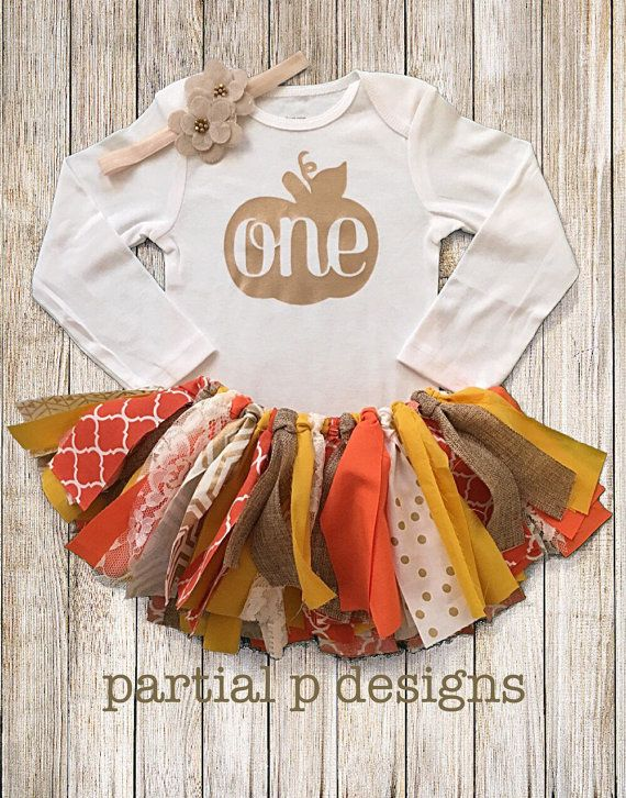 Fall Pumpkin First Birthday Outfit | Smash Cake | Outfit for Pictures |  Fabric Tutu | orange, gold, yellow | 1st bday | autumn pumpkin - Best 25+ Fall 1st Birthdays Ideas On Pinterest Fall First