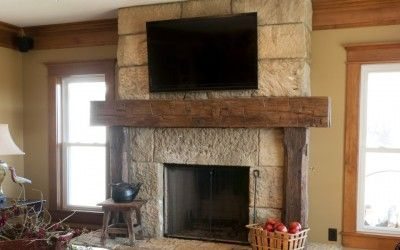 Fireplace Mantels 960x1274 Rustic Fireplace Mantel From