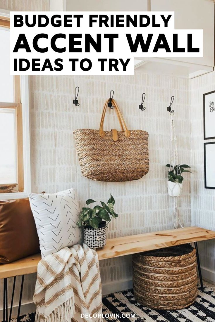 Budget Friendly DIY Accent Wall Ideas   Diy accent wall ...