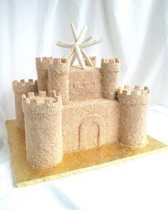Sand castle rice krispie treats