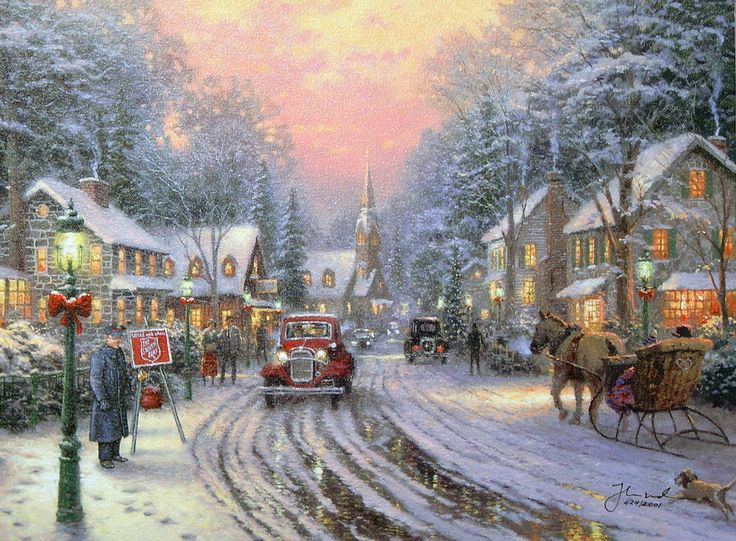 224 best thomas kinkade images on pinterest kinkade paintings thomas kinkade thanksgiving thomas kinkade house street cottage kinkade town winter 3d voltagebd Gallery