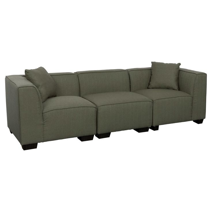 Lida 3pc Greenish - Gray Sectional Sofa Set - Corliving