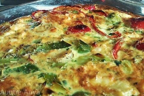 Zapiekanka jajowa z warzywami