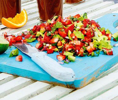 Recept: Avokado- och jordgubbssalsa