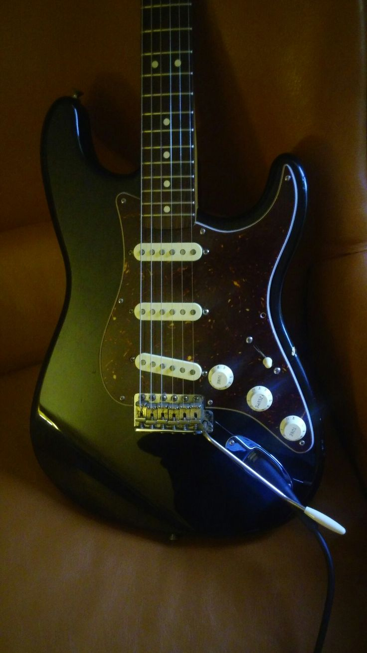 """My first real guitar, a California series Fender Stratocaster. Made in USA assembled in Baha, this was an attempt to make """"USA"""" guitars more affordable. Unfortuently, the MX at the begining of the serial number kept it's value down. Fortuently, as many know, the build quality of Fender's Mexico factory is outstanding and the sworn by many Tex Mex pickups deliver the the goods to make this guitar sing."""