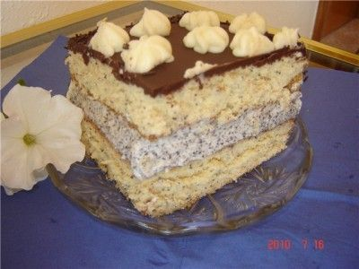 Кулинарные рецепты от Лики: Торт «Дион» маковый