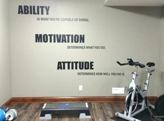 Marvelous home gym wall decor for home decor arrangement ideas