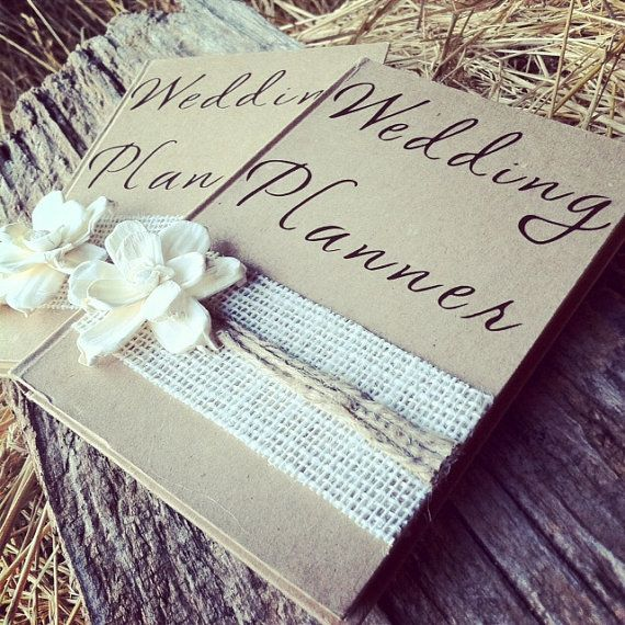 Wedding Planner Jogja Untuk Wedding By: Burlap Wedding Planner Book Rustic Bridal By