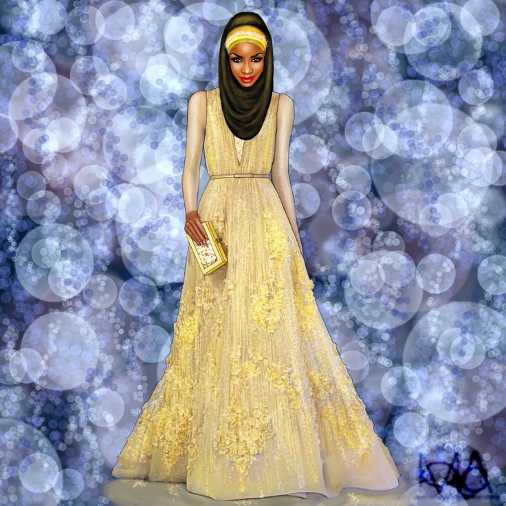 Hijab & Elie Saab Illustrated this one a while ago.