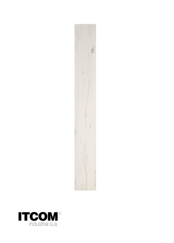 Pavimento sobreelevado - DEX Linha Riscado Branco -- Raised access flooring Striped Line White