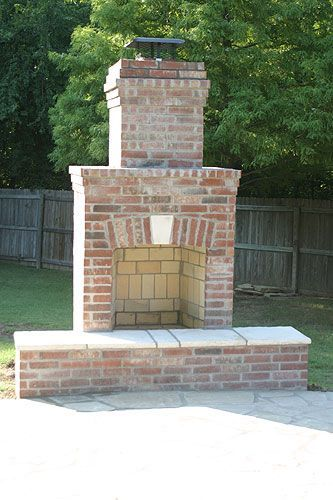 Top 25+ best Outdoor fireplace brick ideas on Pinterest | Diy ...