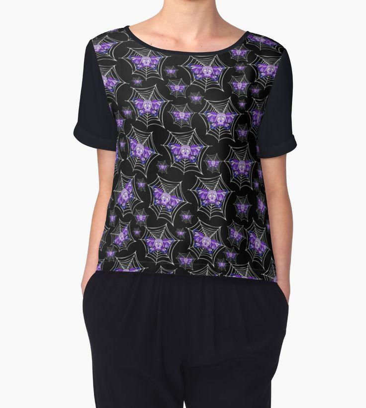 #Purple #Butterfly #Skull #Web Leggings.  Artwork by Toni Lee from http://www.tearingcookie.com/ Design work by Mannzie