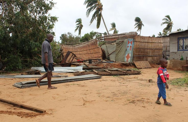 Cyclone Dineo, Mozambique, February 2017    Tropical cyclone Dineo slammed into coastal districts of Mozambique on February 15, 2017, bringing heavy rain, a storm surge and winds of reaching 130 km/h. The storm claimed the lives of 9 people and affected close to 700,000 people.