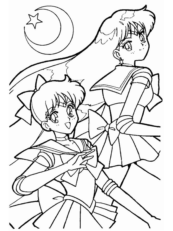 anime for coloring pages for kids free coloring pages - Friends Anime Coloring Pages