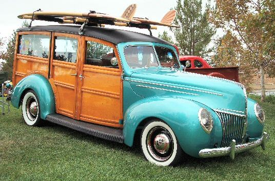 1939 Ford Deluxe Woodie Woody Wagon Street Rod...because no beach house is really complete without one of these.