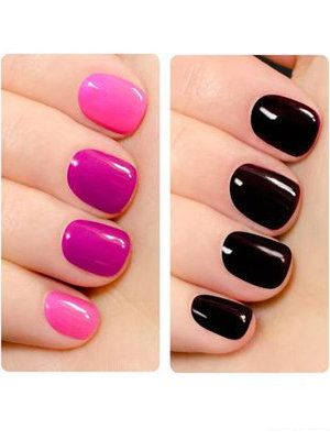 """Cool nail polish changes color with your temperature - Nail polish junkies, we'd like you to meet Shade Shifter from Orly, a new color-changing gel topcoat that changes pigment depending on body temperature and chemistry. Nope, it's not """"mood ring"""" technology. This topcoat transforms into a fantastically new shade in the same color palette — darker if you're cold, lighter if you're warm."""
