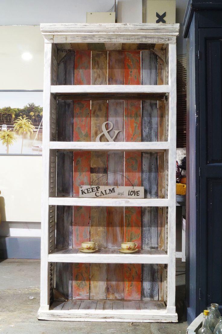 Biblioteca con celosias de demolición STOCK $ 7.500 – Antigua Madera