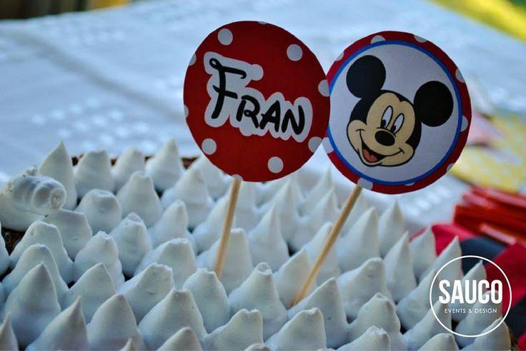 Pinches para el cumple de Fran / Mickey Mouse / Candy Bar y decoración / Cumpleaños infantil / Kids birthday / Toppers / Party decor / By LAURA&DONNA / Envíos a todo el mundo / We ship worldwide / Contact us lauraydonna@gmail.com
