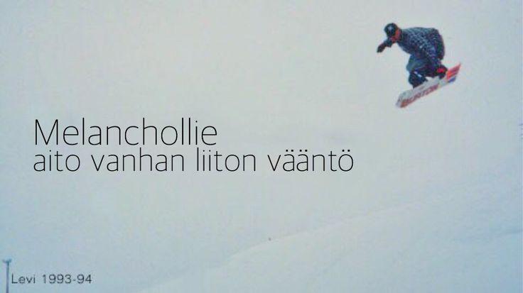 Nyt on vanhaa. 23 vuotta vanha #mellakka. Paikkana #levi. Menijänä meikä. #snowboard #lumilauta #lumilautailu #oldschool