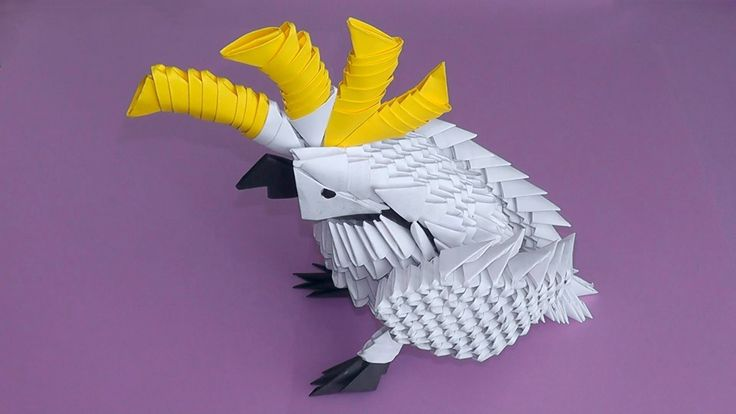 how to make a easy origami parrot
