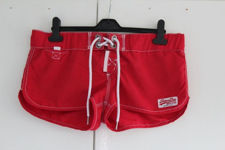 Size M SUPERDRY Red Swim Shorts (206)