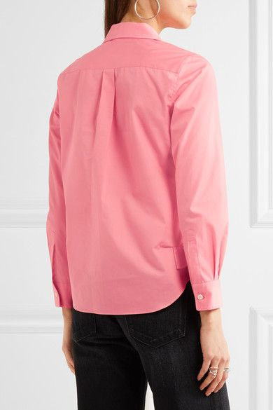 Comme des Garçons Comme des Garçons - Ruffle-trimmed Cotton Shirt - Pink - x small