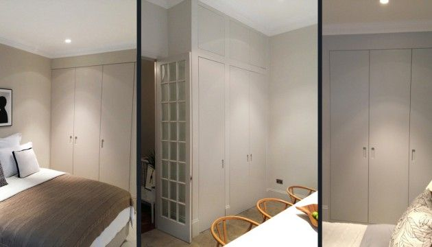 Picky Living, custom ordered doors to Ikea cabinets and wardrobes.  Garderober i gråton