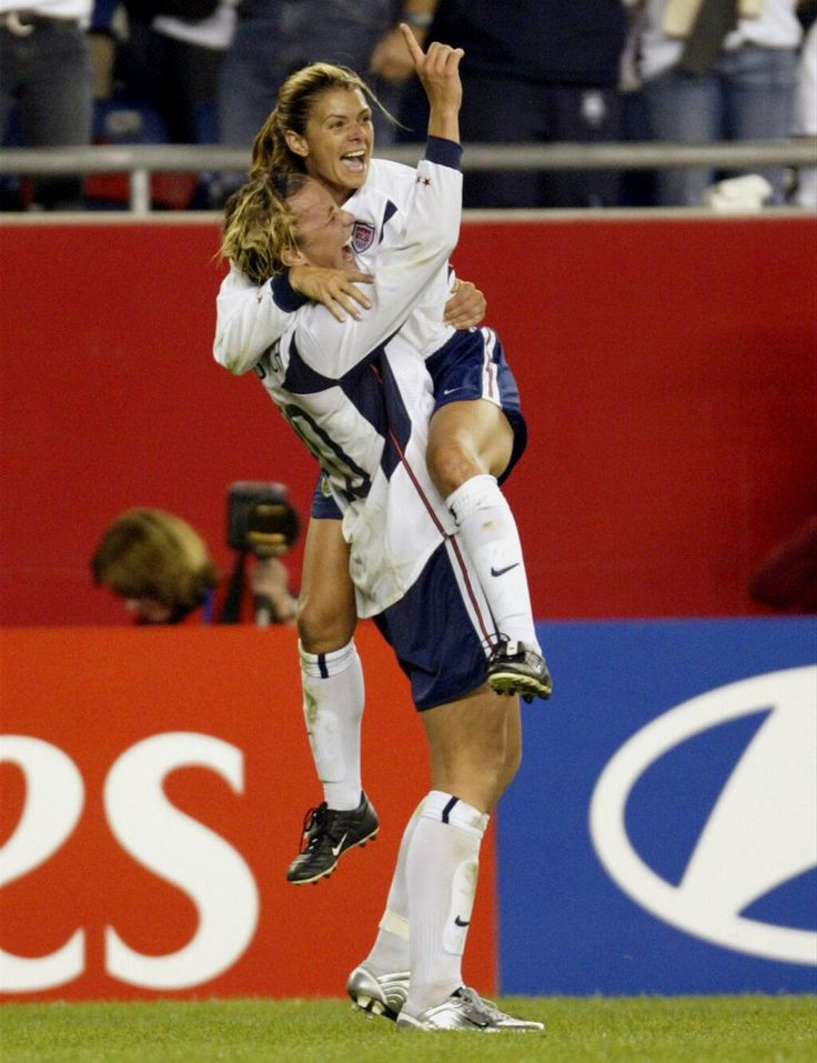 Teammates: Mia Hamm and Abby Wambach.