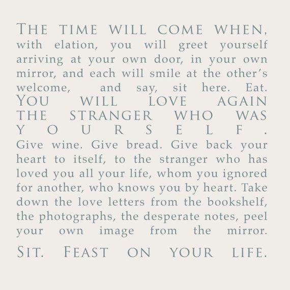 Derek Walcott poem print INSTANT DOWNLOAD Love by hellokelli